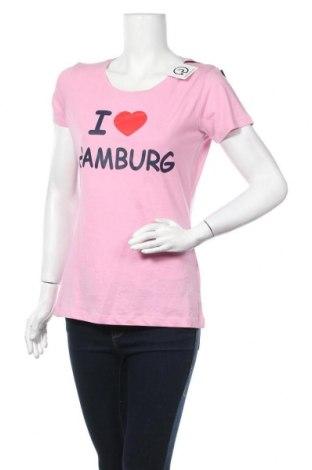 Дамска тениска, Размер L, Цвят Розов, Памук, Цена 10,97лв.