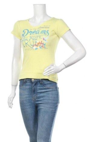 Дамска тениска, Размер XS, Цвят Жълт, Цена 11,03лв.