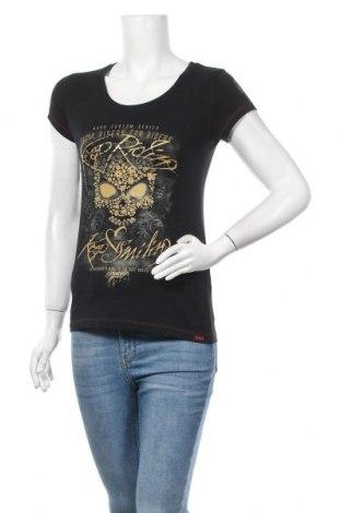 Дамска тениска, Размер S, Цвят Черен, 95% памук, 5% еластан, Цена 13,97лв.