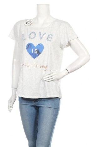 Дамска тениска, Размер L, Цвят Сив, 58% памук, 42% полиестер, Цена 11,76лв.