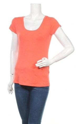 Дамска тениска, Размер L, Цвят Оранжев, 95% памук, 5% еластан, Цена 6,62лв.