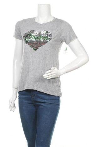 Дамска тениска, Размер S, Цвят Сив, 64% полиестер, 34% вискоза, Цена 12,60лв.