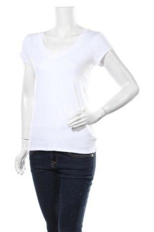 Дамска тениска, Размер L, Цвят Бял, 48% памук, 48% модал, 4% еластан, Цена 14,70лв.