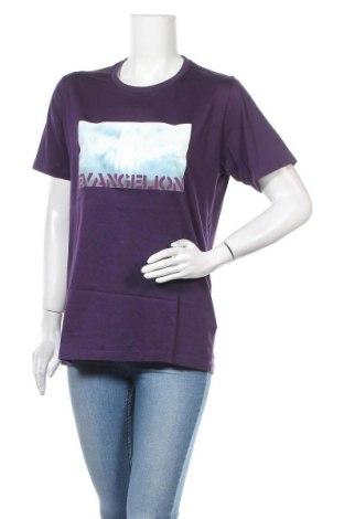 Дамска тениска, Размер L, Цвят Лилав, Памук, Цена 6,72лв.