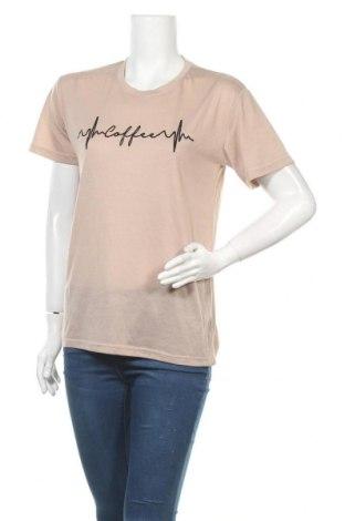 Дамска тениска, Размер L, Цвят Бежов, Цена 13,44лв.