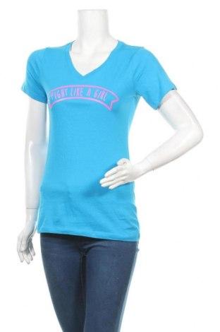 Дамска тениска, Размер S, Цвят Син, Памук, Цена 4,20лв.