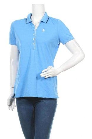 Дамска тениска, Размер L, Цвят Син, 95% полиамид, 5% еластан, Цена 8,93лв.