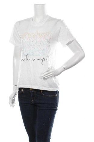 Дамска тениска, Размер M, Цвят Бял, Полиестер, Цена 14,18лв.
