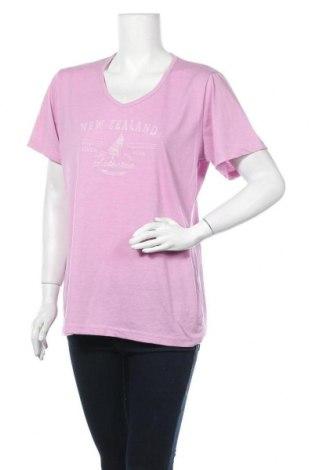 Дамска тениска, Размер XXL, Цвят Розов, 60% памук, 40% полиестер, Цена 17,01лв.