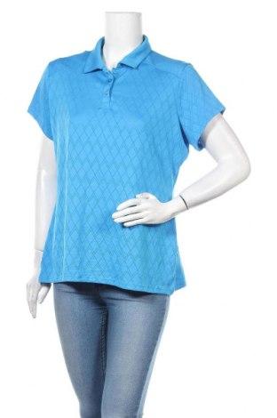 Дамска тениска, Размер XL, Цвят Син, Полиестер, Цена 10,40лв.