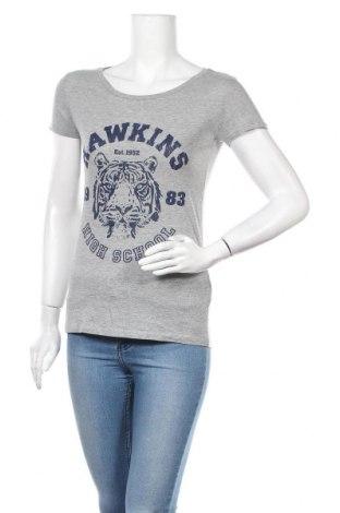 Дамска тениска, Размер S, Цвят Сив, 85% памук, 15% вискоза, Цена 22,68лв.
