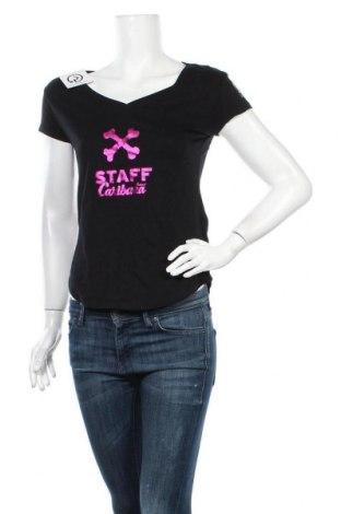 Дамска тениска, Размер S, Цвят Черен, Памук, Цена 4,20лв.