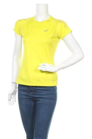 Γυναικείο t-shirt ASICS, Μέγεθος S, Χρώμα Πράσινο, Τιμή 11,11€