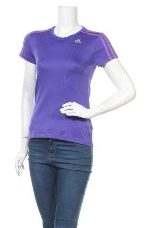 Дамска тениска Adidas, Размер XS, Цвят Лилав, Цена 11,34лв.