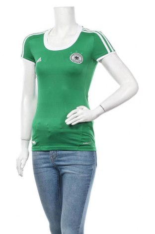 Дамска тениска Adidas, Размер XXS, Цвят Зелен, Полиестер, Цена 5,31лв.