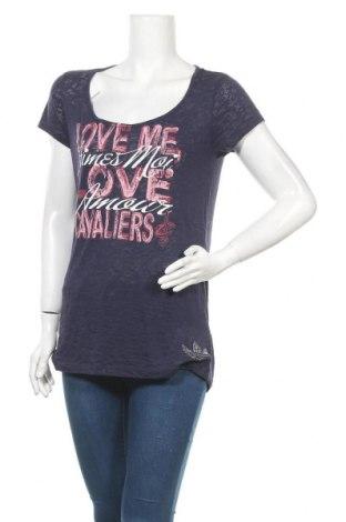 Γυναικείο t-shirt Adidas, Μέγεθος XL, Χρώμα Μπλέ, 50% βαμβάκι, 50% πολυεστέρας, Τιμή 18,19€