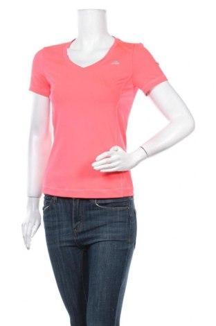 Γυναικείο t-shirt Adidas, Μέγεθος XS, Χρώμα Ρόζ , 84% πολυεστέρας, 16% ελαστάνη, Τιμή 13,19€