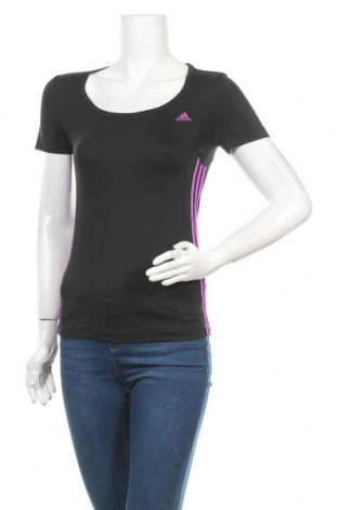 Дамска тениска Adidas, Размер XS, Цвят Черен, 88% полиестер, 12% еластан, Цена 17,33лв.
