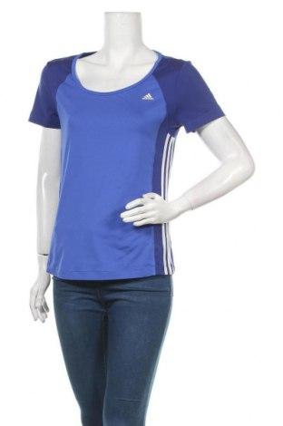 Дамска тениска Adidas, Размер M, Цвят Син, Цена 25,94лв.