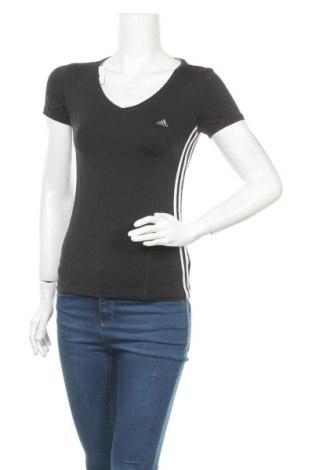 Дамска тениска Adidas, Размер S, Цвят Черен, 88% полиестер, 12% еластан, Цена 17,33лв.