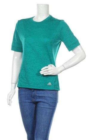 Γυναικείο t-shirt Adidas, Μέγεθος M, Χρώμα Πράσινο, Τιμή 16,05€