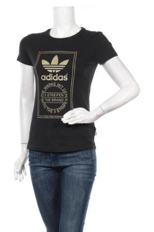 Γυναικείο t-shirt Adidas Originals, Μέγεθος XS, Χρώμα Μαύρο, Βαμβάκι, Τιμή 20,78€
