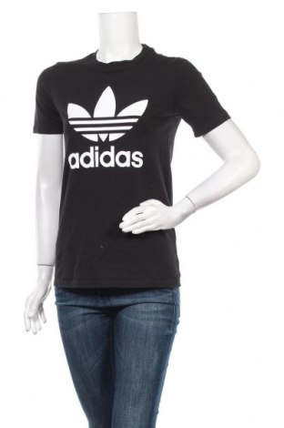 Γυναικείο t-shirt Adidas Originals, Μέγεθος S, Χρώμα Μαύρο, Τιμή 20,78€