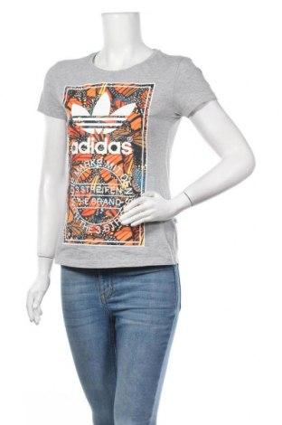 Γυναικείο t-shirt Adidas Originals, Μέγεθος S, Χρώμα Γκρί, Βαμβάκι, Τιμή 22,08€