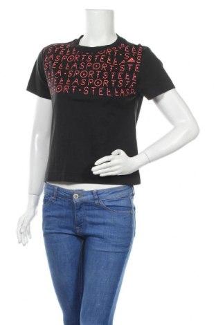 Γυναικείο t-shirt Adidas StellaSport, Μέγεθος XXS, Χρώμα Μαύρο, Τιμή 19,10€