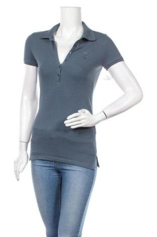 Дамска тениска Aeropostale, Размер M, Цвят Син, 95% памук, 5% еластан, Цена 6,30лв.