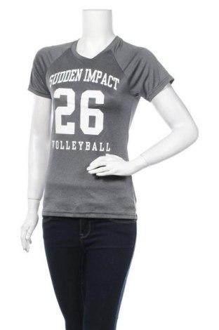 Дамска тениска Alleson, Размер S, Цвят Сив, Полиестер, Цена 9,24лв.