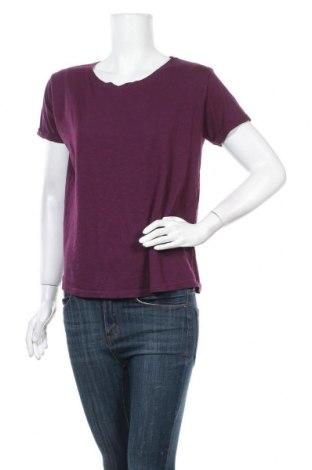 Дамска тениска Amisu, Размер M, Цвят Лилав, 50% памук, 50% модал, Цена 14,28лв.