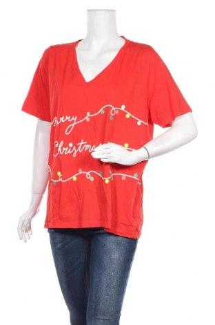 Дамска тениска Avella, Размер XXL, Цвят Червен, Памук, Цена 10,08лв.