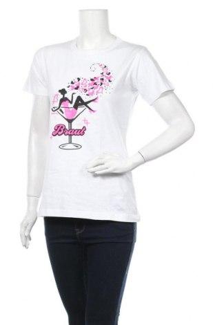 Дамска тениска B&C Collection, Размер L, Цвят Бял, Памук, Цена 14,70лв.