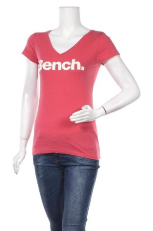 Дамска тениска Bench, Размер S, Цвят Розов, 58% памук, 42% 42% вискоза, Цена 9,45лв.