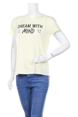 Дамска тениска Bershka, Размер M, Цвят Жълт, Цена 12,60лв.