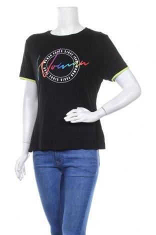 Дамска тениска Boohoo, Размер XL, Цвят Черен, 95% вискоза, 5% еластан, Цена 16,96лв.