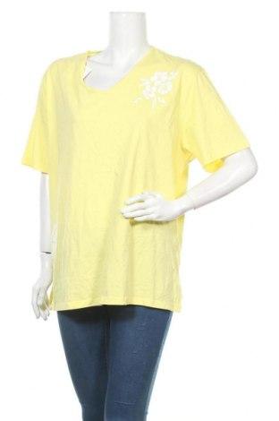 Дамска тениска Bpc Bonprix Collection, Размер XXL, Цвят Жълт, Памук, Цена 12,50лв.