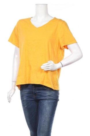 Дамска тениска Brilliant, Размер XL, Цвят Жълт, Памук, Цена 15,12лв.