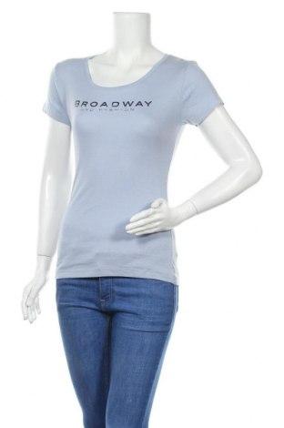 Дамска тениска Broadway, Размер M, Цвят Син, Памук, Цена 8,19лв.