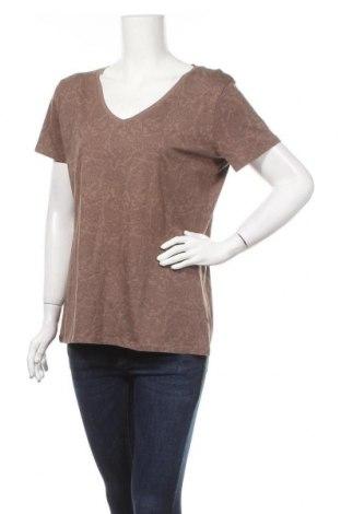Дамска тениска C&A, Размер L, Цвят Кафяв, 95% памук, 5% еластан, Цена 4,46лв.