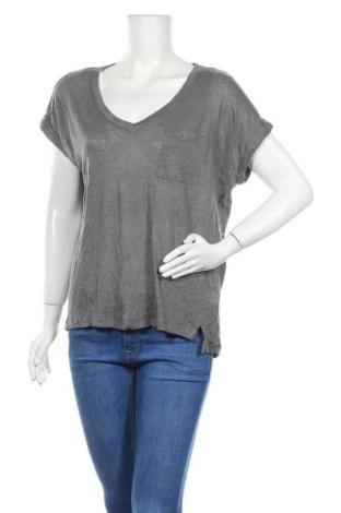 Дамска тениска C&C, Размер L, Цвят Сив, Лен, Цена 11,76лв.