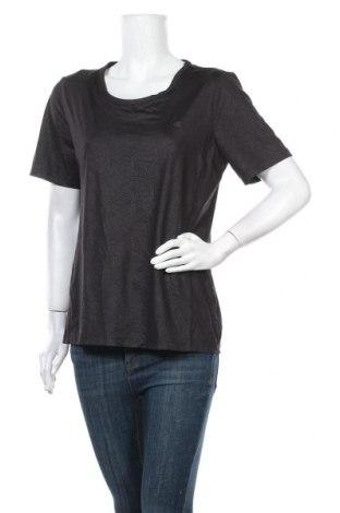 Γυναικείο t-shirt Champion, Μέγεθος L, Χρώμα Μαύρο, 84% πολυεστέρας, 16% ελαστάνη, Τιμή 11,69€