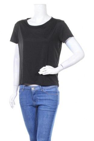 Γυναικείο t-shirt Champion, Μέγεθος S, Χρώμα Μαύρο, 92% πολυεστέρας, 8% ελαστάνη, Τιμή 5,20€