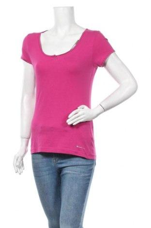 Γυναικείο t-shirt Champion, Μέγεθος L, Χρώμα Ρόζ , 92% βαμβάκι, 8% ελαστάνη, Τιμή 11,66€