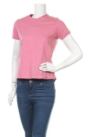 Γυναικείο t-shirt Champion, Μέγεθος S, Χρώμα Ρόζ , Βαμβάκι, Τιμή 11,66€