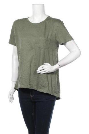 Дамска тениска Clothing & Co, Размер XL, Цвят Зелен, Памук, Цена 14,18лв.