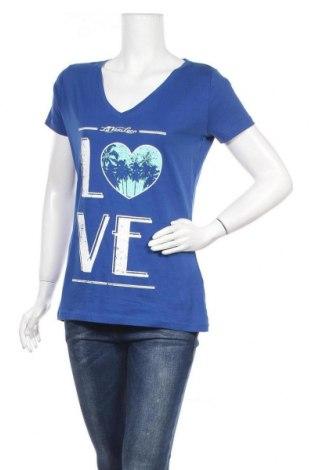 Дамска тениска Colours Of The World, Размер XL, Цвят Син, Памук, Цена 10,29лв.