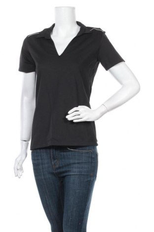 Дамска тениска Crane, Размер L, Цвят Черен, 95% полиестер, 5% еластан, Цена 4,99лв.