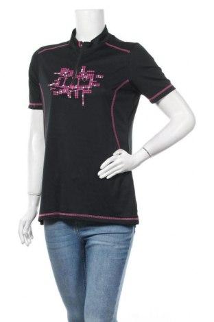 Дамска тениска Crivit, Размер L, Цвят Черен, Полиестер, Цена 14,18лв.